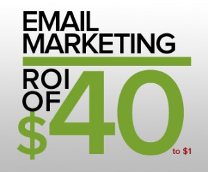Email Marketing ROI of $40 to $1