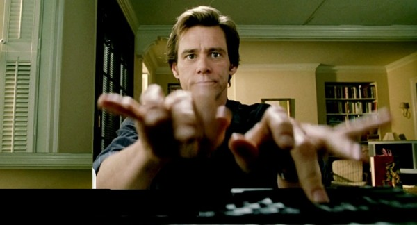 jim carrey fast typing
