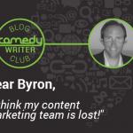 Dear Byron Content Marketing Team Lost